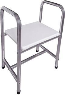 Cadeira De Banho Alumínio Polido 56X72X38Cm - 24614 - Sicmol - Sicmol