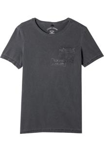 Camiseta John John Rg Jhn Stamps Malha Algodão Cinza Masculina (Cinza Chumbo, M)