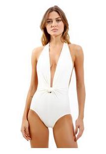 Body Rosa Chá Dri Beachwear Off White Feminino Body Dri Off White-Off White-M