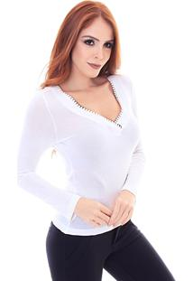 Blusa Sideral Bordado Manual Off White