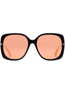 Gucci Eyewear Óculos De Sol Quadrado - Laranja