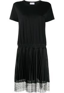 Redvalentino Vestido Com Sobreposição De Tule - Preto