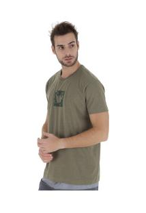 Camiseta Hang Loose Camou - Masculina - Verde