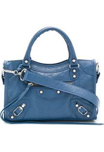 Balenciaga Bolsa Tiracolo Classic Mini City - Azul