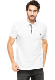 Camisa Polo Aleatory Slim Branca