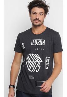 Camiseta Triton Music Mescla Masculina - Masculino
