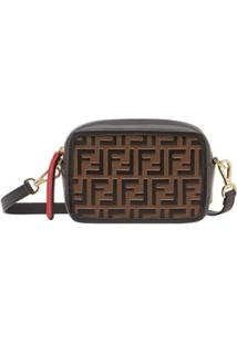Fendi Mini Camera Case Crossbody Bag - Preto