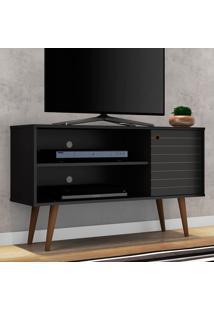 Rack Para Tv Jade Preto Fosco - Móveis Bechara