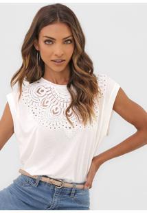 Camiseta Desigual Budapest Off-White