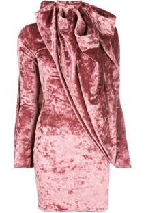 Y/Project Blusa Assimétrica De Veludo - Rosa