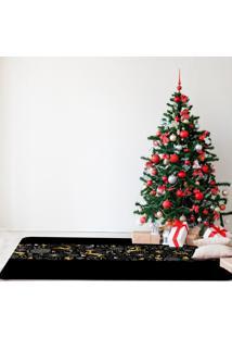 Tapete De Natal Para Sala Elementos Premium ÚNico - Multicolorido - Dafiti