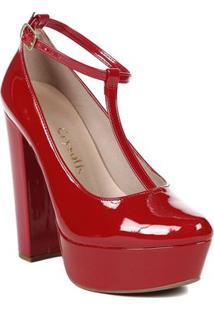 Sapato De Salto Feminino Crysalis Vermelho
