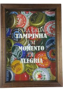 Quadro Porta Tampinhas Cerveja Rústico Decoração Ref 791 Art Frame