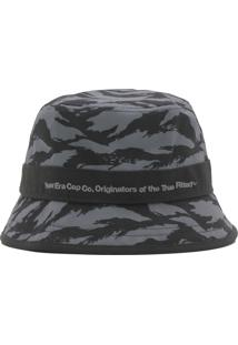 Chapéu New Era Bucket Essentials Black C Cinza