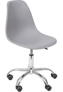 Cadeira Eames Dkr- Cinza & Prateada- 93X47X41Cm-Or Design