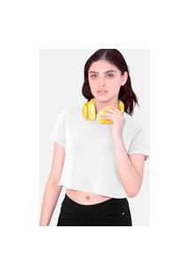 Camiseta Cropped Tsete Feminino Liso Branco