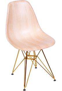 Cadeira Eames Eiffel Com Base Metal Wood