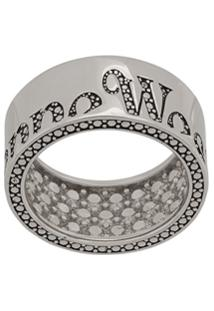 Vivienne Westwood Anel Com Logo - Prateado