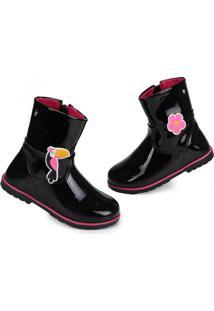 Ankle Boots Infantil Pampili Preto