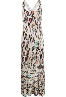 Liu Jo Vestido Animal Print - Neutro
