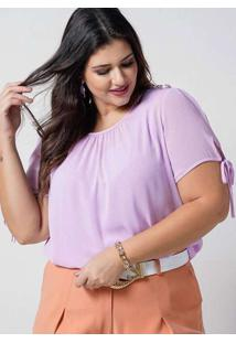 Blusa Preguinhas Almaria Plus Size New Umbi Com Re