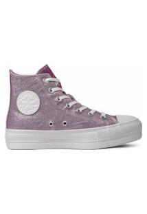 Tênis Converse Chuck Taylor All Star Lift Hi Rosa Sal/Pink Fluor Ct17450002.33