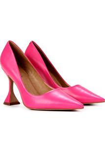 Scarpin Couro Carrano Salto Taça - Feminino-Pink