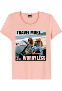 Blusa Rosa Travel More Barbie®