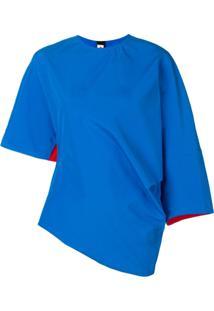 Marni Blusa Assimétrica - Azul
