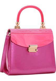 Bolsa Feminina Chenson Glamour Marmorizado De Mão Pink 3483032