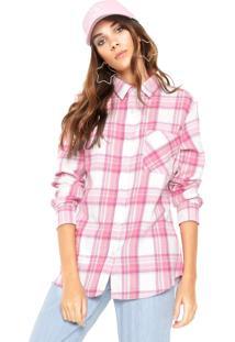 Camisa Fiveblu Xadrez Rosa/Branco