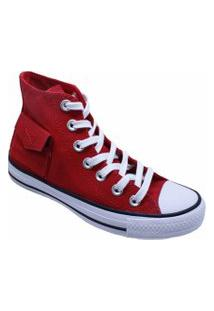 Tênis Converse All Star Chuck Taylor Pocket Hi Vermelho Ct13120002