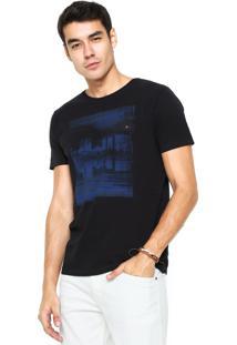 Camiseta Aramis Regular Fit Estampada Preta