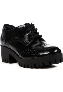 Sapato De Salto Oxford Feminino Via Marte Preto