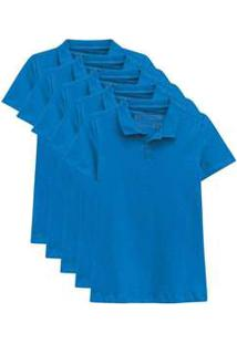 Kit De 10 Camisas Polo Femininas Azul