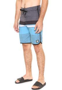 Bermuda Água Dc Shoes Sackercad Cinza/Azul