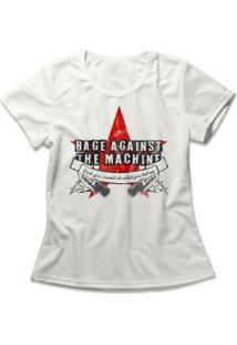 Camiseta Feminina Rage Against The Machine - Feminino-Off White
