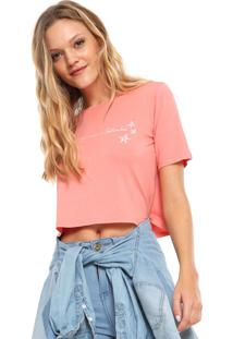 Camiseta Cropped Acrobat Empoderada Setembro Coral