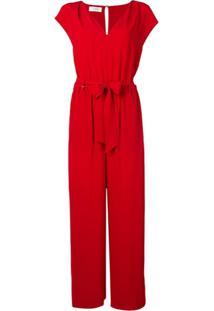 Incotex Macacão Pantalona - Vermelho