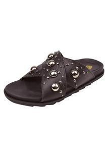 Birken Uzze Sapatos Aplicações Metálicas Preta