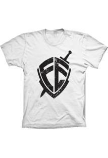 Camiseta Baby Look Lu Geek Escudo Da Fé Branco