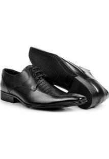 Sapato Social Couro Bico Fino Bigioni Masculino - Masculino-Preto