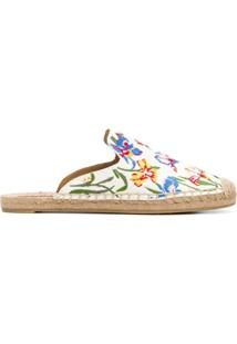 Tory Burch Slipper Com Bordado - Estampado