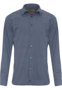 Camisa Masculina Casual Yura - Azul