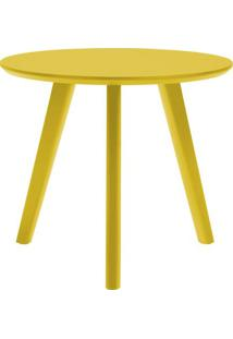 Mesa Lateral Paint Alta Amarelo Acetinado 65 Cm (Alt) - 50936 - Sun House