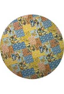 Sousplat Para Prato Suporte De Mesa Decorativo Patchwork Floral 30 Cm