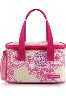 Bolsa Térmica Com Compartimento Lateral Rede Jacki Design My Lolla Pink - Kanui