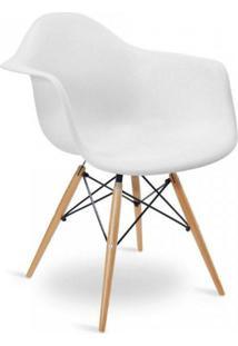 Cadeira Com Braços E Pés Em Madeira Flórida Siena Móveis Branco