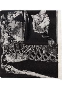 Alexander Mcqueen Xale King And Queen Com Bordado - Preto
