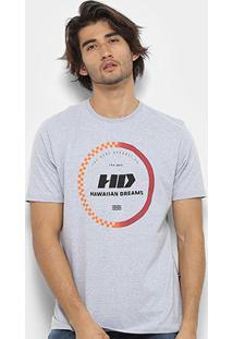 Camiseta Hd Gradient Masculina - Masculino-Cinza
